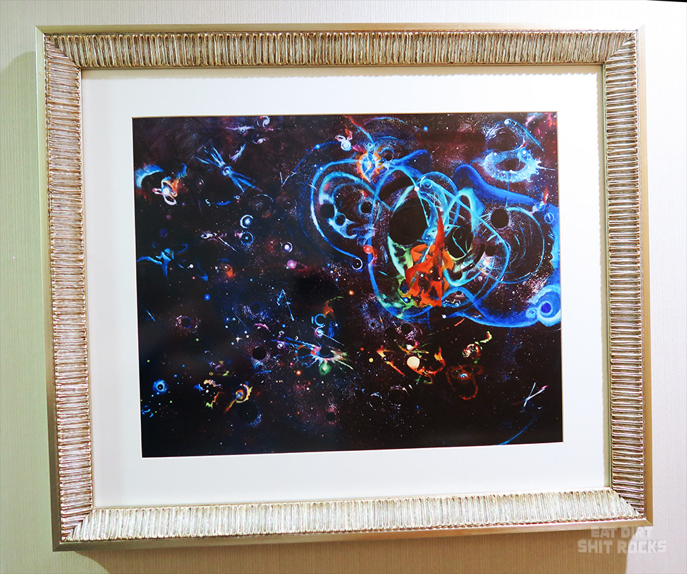 Our framed print of Penelope Rose Crowley's gorgeous painting 'Infinite LIGO Dreams'.