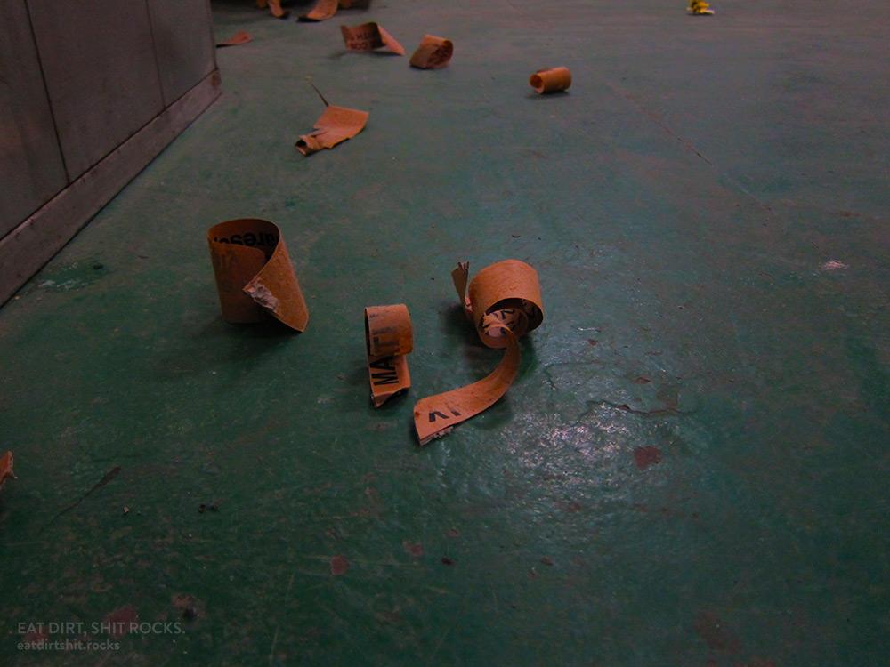 Generic Hong Kong industrial buildings debris.